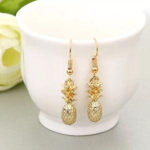 Stunning 3 D Pineapple Earrings